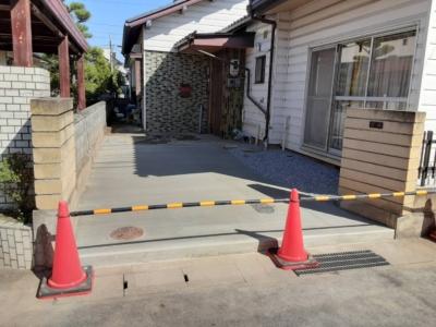 長野市T様邸 外構工事 土間コンクリート サンルーム屋根修理