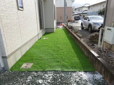 長野市 人工芝張り