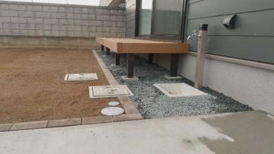 長野市 エクステリア(外構) 芝庭