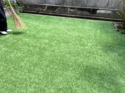 長野市 庭リフォーム 人工芝